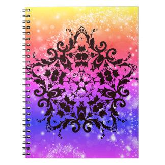 Glittery Sky & Stars Rainbow Notebook