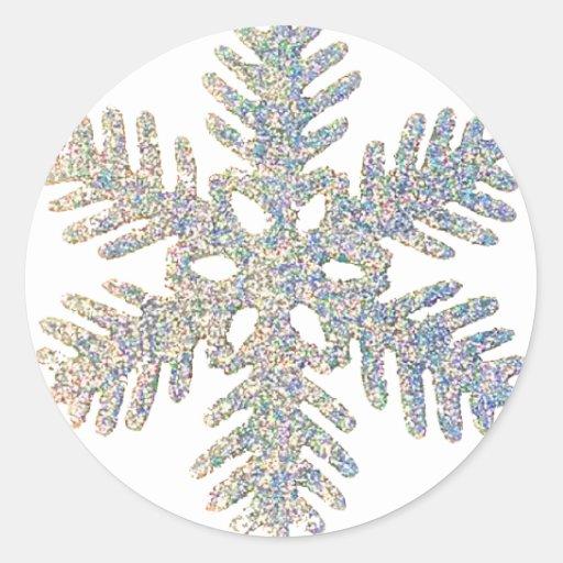 Glittery Snowflake Stickers