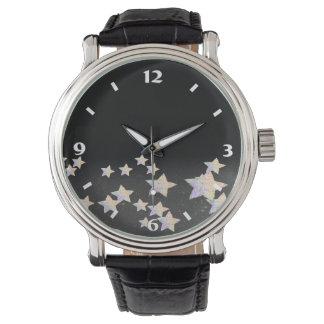 glittery star wristwatch