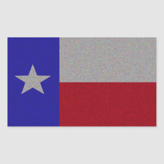 Glittery Texas Flag Rectangle Stickers