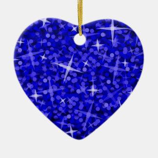 Glitz Dark Blue ornament heart