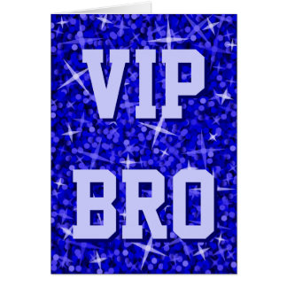 Glitz Dark Blue 'VIP BRO' 'Your Text' card
