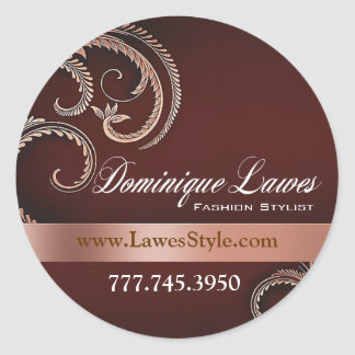 """Glitz Glam"" - Classy Chic Elegant Fashion Stylist Stickers"