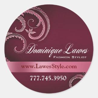 """""""Glitz Glam"""" - Classy Chic Elegant Fashion Stylist Round Stickers"""