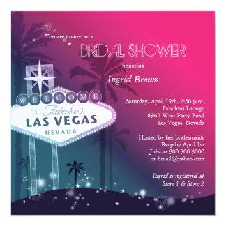 Glitz & Glam Las Vegas Bridal Shower 13 Cm X 13 Cm Square Invitation Card