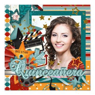 Glitz Glamor Movie Star Quinceanera Invitations