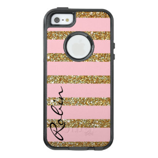 Glitz Gold and Pink Otterbox iPhone SE/5 Plus Case