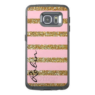 Glitz Gold and Pink Otterbox Samsung S6 Edge Case