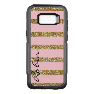 Glitz Gold and Pink Otterbox Samsung S8 Case