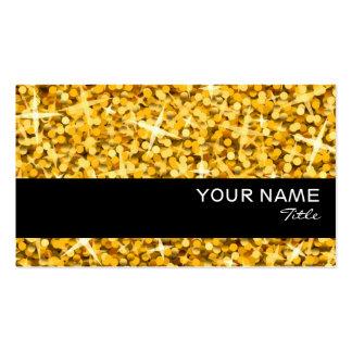 """Glitz """"Gold"""" black stripe business card template"""