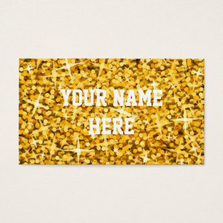 "Glitz ""Gold"" business card template"