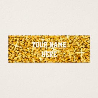 "Glitz ""Gold"" business card template skinny"