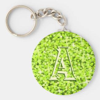 Glitz Lime 'monogram' keychain