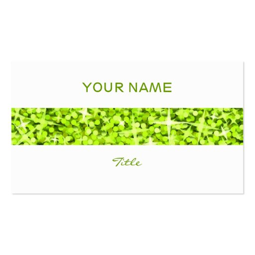 Glitz Lime stripe business card white back