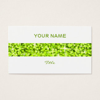 Glitz Lime stripe business card white back