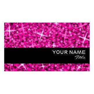 Glitz Pink Black stripe business card template