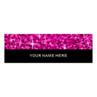 Glitz Pink business card skinny black