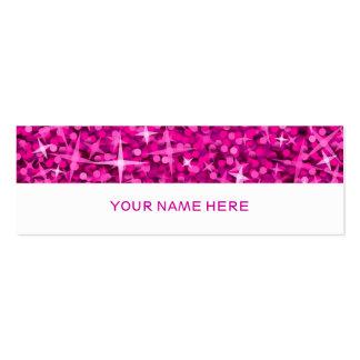 Glitz Pink business card skinny white