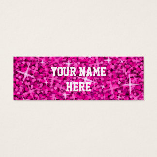 Glitz Pink business card template skinny