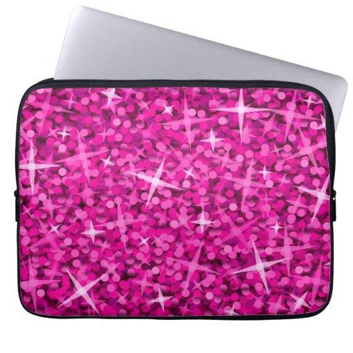 Glitz Pink laptop sleeve 13 inch