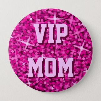 Glitz Pink 'VIP MOM' button