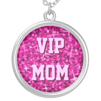 Glitz Pink 'VIP MOM' necklace round