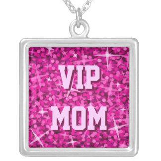Glitz Pink 'VIP MOM' necklace square