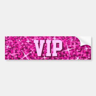 Glitz Pink 'VIP MUM' bumper sticker