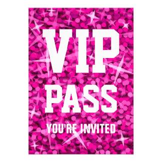 Glitz Pink VIP PASS invitation