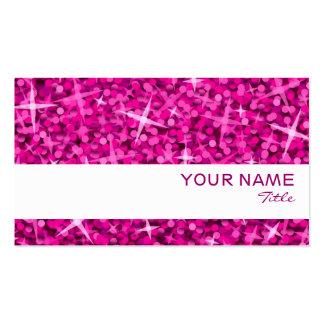 Glitz Pink white stripe business card template