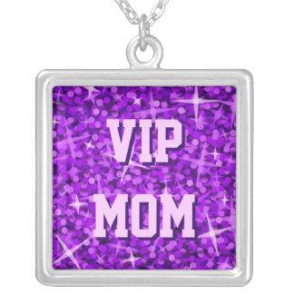 Glitz Purple 'VIP MOM' necklace square