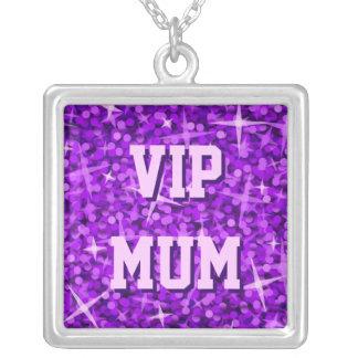 Glitz Purple 'VIP MUM' necklace square
