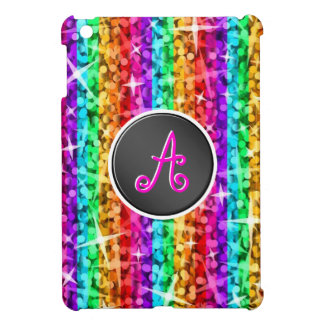 Glitz Rainbow Savvy monogram mini iPad case
