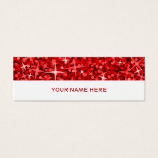 Glitz Red business card skinny white