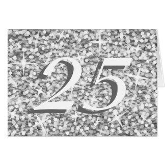 """Glitz """"Silver"""" '25' anniversary card"""