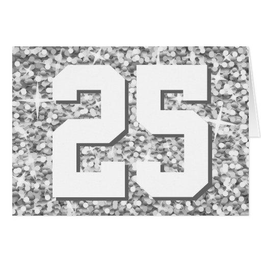"""Glitz """"Silver"""" '25' 'Happy Anniversary' card"""