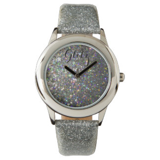 Glitz Silver and Hologram Glitter Watch! Wrist Watch