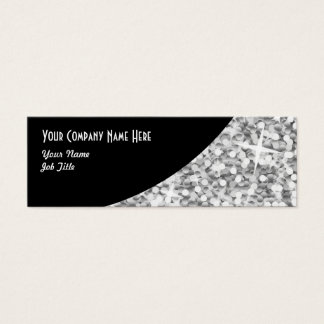 "Glitz ""Silver"" Black Curve business card skinny"