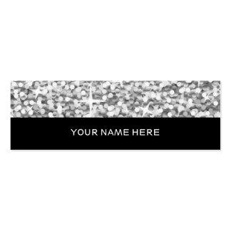 "Glitz ""Silver"" business card skinny black"