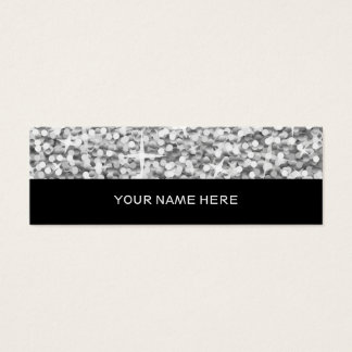 "Glitz ""Silver"" business card skinny black"