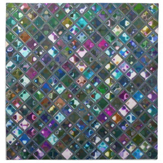 Glitz Tiles Multicoloured 2 print napkim set Napkin