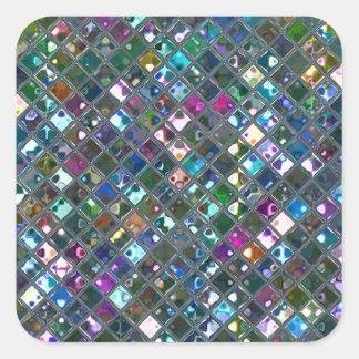 Glitz Tiles Multicoloured 2 print sticker square