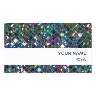 Glitz Tiles Multicoloured  2 print white stripe Pack Of Standard Business Cards