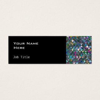 Glitz Tiles Multicoloured 2 side skinny black Mini Business Card