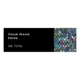 Glitz Tiles Multicoloured 2 side skinny black Pack Of Skinny Business Cards