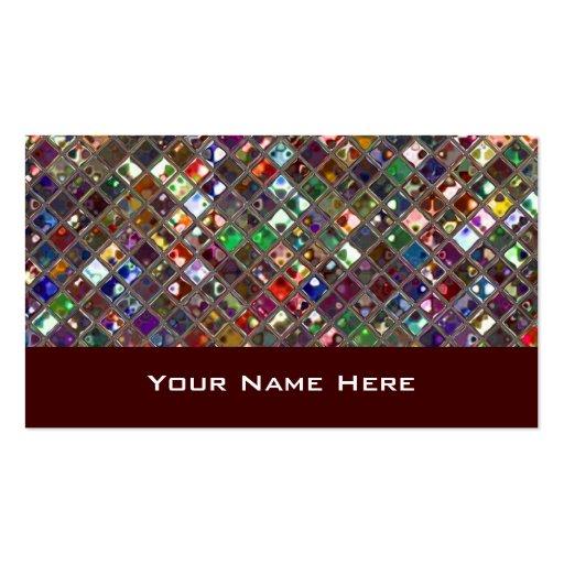Glitz Tiles Multicoloured business card wine