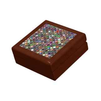 Glitz Tiles Multicoloured print gift box hinged