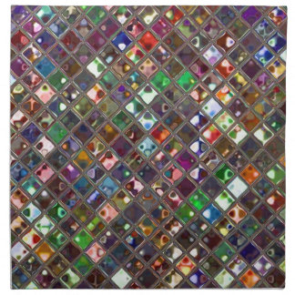 Glitz Tiles Multicoloured print napkim set Napkin