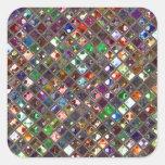 Glitz Tiles Multicoloured print sticker square