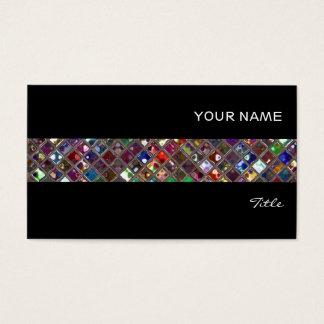 Glitz Tiles Multicoloured tile stripe black Business Card